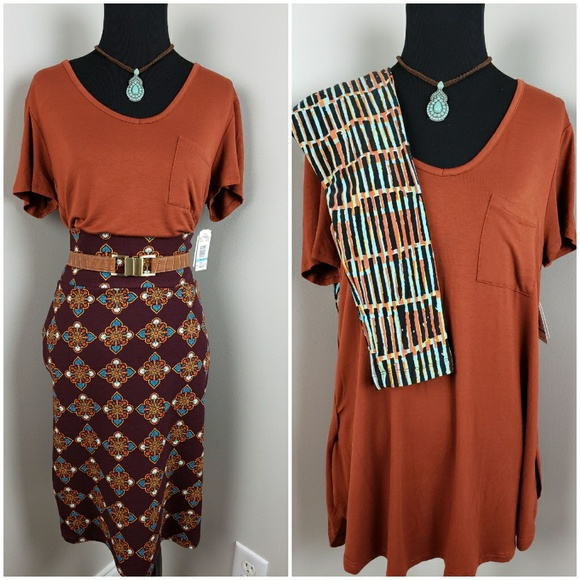 2fca5d1e0e46f6 LuLaRoe Other - 3 Piece Set  Shirt   Lularoe Skirt   1 Pr. Leggin